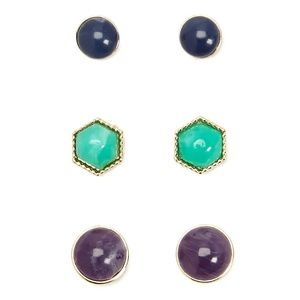 BRAND NEW Geo Stud Earring Set